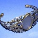 Karkötő alap (209. minta/1 db), Gyöngy, ékszerkellék,  Karkötő alap (209. minta) - egy tárcsás - antik bronz színben  Mérete: 68x54x35 mm (karperec)..., Alkotók boltja