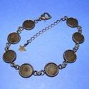 Karkötő alap (213. minta/1 db), Gyöngy, ékszerkellék,  Karkötő alap (213. minta) - nyolc kerek tárcsás - antik bronz színben  Mérete: 24 cm (teljes ..., Alkotók boltja