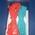 Paracord karkötő alap-1 (2 szín+2 kapocs), Gyöngy, ékszerkellék,  Paracord karkötő alap-1  A csomag tartalma: 2 db paracord színes zsinór (a képen látható  s..., Alkotók boltja