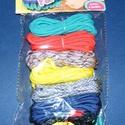 Paracord karkötő alap-11 (6 szín+6 kapocs), Gyöngy, ékszerkellék,  Paracord karkötő alap-11  A csomag tartalma: 6 db paracord színes zsinór (a képen látható  ..., Alkotók boltja