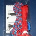 Paracord karkötő alap-3 (2 szín+2 kapocs), Gyöngy, ékszerkellék,  Paracord karkötő alap-3  A csomag tartalma: 2 db paracord színes zsinór (a képen látható  s..., Alkotók boltja