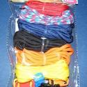 Paracord karkötő alap-7 (6 szín+6 kapocs), Gyöngy, ékszerkellék,  Paracord karkötő alap-7  A csomag tartalma: 6 db paracord színes zsinór (a képen látható  s..., Alkotók boltja