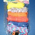 Paracord karkötő alap-8 (6 szín+6 kapocs), Gyöngy, ékszerkellék,  Paracord karkötő alap-8  A csomag tartalma: 6 db paracord színes zsinór (a képen látható  s..., Alkotók boltja
