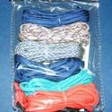 Paracord karkötő alap-9 (6 szín+6 kapocs), Gyöngy, ékszerkellék,  Paracord karkötő alap-9  A csomag tartalma: 6 db paracord színes zsinór (a képen látható  s..., Alkotók boltja