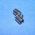 Nemesacél bőrvég (STAS-3 minta/1 db) - 10x4,5 mm, Gyöngy, ékszerkellék,  Nemesacél bőrvég - STAS-3Nemesacél (304 Stainless Steel) bőrvég  Mérete: 10x5 mm (belső át..., Alkotók boltja
