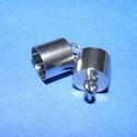 Nemesacél bőrvég (STAS-5 minta/1 db) - 13x9 mm, Gyöngy, ékszerkellék, Ékszerkészítés,  Nemesacél bőrvég - STAS-5Nemesacél (304 Stainless Steel) termék  Mérete: 13x9 mm (belső átmérő: 8 ..., Alkotók boltja