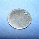 Nemesacél medál (STAS-34 minta/1 db) - ? 20x1 mm, Gyöngy, ékszerkellék, Ékszerkészítés,  Nemesacél medál (STAS-34 minta) - kerekNemesacél (304 Stainless Steel) termék  Mérete: ? 20 mmA fu..., Alkotók boltja