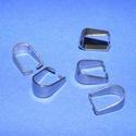 Nemesacél medálakasztó/rögzítő (STAS-28 minta/1 db) - 10,5x8 mm, Gyöngy, ékszerkellék,  Medálakasztó és rögzítő (STAS-28 minta) - platina színbenNemesacél (304 Stainless Steel) termék  Mé..., Alkotók boltja