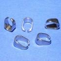 Nemesacél medálakasztó/rögzítő (STAS-50 minta/1 db) - 10x9 mm, Gyöngy, ékszerkellék, Ékszerkészítés,  Medálakasztó  és rögzítő (STAS-50 minta) - platina színbenNemesacél (304 Stainless Steel) termék  ..., Alkotók boltja
