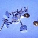 Nemesacél stiftes fülbevaló alap (STAS-19 minta/10 db) - 4x12 mm, Gyöngy, ékszerkellék, Ékszerkészítés,  Nemesacél stiftes fülbevaló alap - STAS-19 Nemesacél (304 Stainless Steel) termék  A fülbevaló any..., Alkotók boltja