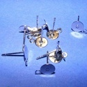 Nemesacél stiftes fülbevaló alap (STAS-25 minta/1 db) - 12x7 mm, Gyöngy, ékszerkellék,    Nemesacél fülbevaló alap - STAS-25 - stiftesNemesacél (304 Stainless Steel) termék  A fülb..., Alkotók boltja