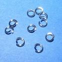 Nemesacél szerelőkarika (STAS-13 minta/10 db) - 4x0,6 mm, Gyöngy, ékszerkellék,  Nemesacél szerelőkarika - STAS-13 - nyitott - szimplaNemesacél (304 Stainless Steel) termék  Mérete..., Alkotók boltja