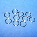 Nemesacél szerelőkarika (STAS-16 minta/10 db) - 7x0,8 mm, Gyöngy, ékszerkellék,  Nemesacél szerelőkarika - STAS-16 - szimplaNemesacél (304 Stainless Steel) termék  Mérete: 7x0..., Alkotók boltja