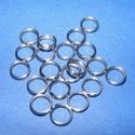 Nemesacél szerelőkarika (STAS-23 minta/10 db) - 6 mm, Gyöngy, ékszerkellék, Nemesacél szerelőkarika - STAS-23 - duplaNemesacél (304 Stainless Steel) termékMérete: 6x0,7 mm..., Alkotók boltja