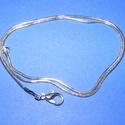 Nemesacél szerelt kígyólánc (STAS-37/1 db) - 1,2 mm x 42 cm, Gyöngy, ékszerkellék, Ékszerkészítés,  Nemesacél szerelt kígyólánc (STAS-37)- 316 Stainless Steel finomságú acél -   A lánc vastagsága: 1..., Alkotók boltja
