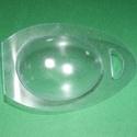 Tojástartó (1 db) - tyúk, Csomagolóanyag, Mindenmás,   Tojástartó - tyúk   Műanyag, víztiszta tojástartó, kacsatojás méretben  Mérete: 12x7 cm (a tojás ..., Alkotók boltja