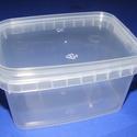 Műanyag szögletes doboz (1 db) - 350 ml, Csomagolóanyag, Mindenmás,   Műanyag szögletes tárolódoboz   Praktikus többfunkciós áttetsző műanyag doboz.Biztonságos tárolás..., Alkotók boltja