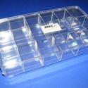 Tárolódoboz (18 rekeszes) - tetővel, Csomagolóanyag, Mindenmás,  Tárolódoboz - 18 rekeszes - tetővel  Praktikus, többfunkciós, áttetsző műanyag doboz.Biztonságos t..., Alkotók boltja