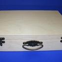Natúr fadoboz (szerelt, füles/1 db) - A4 méret, Fa,  Natúr fadoboz - szerelt - füles - A4 méret  Külső mérete: 33,5x26,5x7,5 cmBelső mérete: 32x..., Alkotók boltja