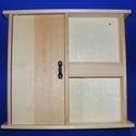 Fa kulcs- és levéltartó (1 db), Fa, Famegmunkálás, Egyéb fa,  Fa kulcs- és levéltartó    Mérete: 27x25x4,5 cmAnyaga: natúr fa, nem pácolt, nem kezelt  Az ár e..., Alkotók boltja