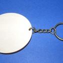 Fa kulcstartó-7 (? 55 mm/1 db) - kerek, Fa, Famegmunkálás, Egyéb fa,  Fa kulcstartó-7 - antik bronz színű láncos kulcstartóval - kerek  Fa alap mérete: ? 55 mmAnyaga: n..., Alkotók boltja