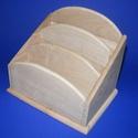 """Mindent bele tartó (három szintes/1 db), Fa, Famegmunkálás, Egyéb fa,  """"Mindent bele"""" fa tároló - nagy - 3 fakkos    Mérete: 17x12x14 cm (elöl 8 cm)Anyaga: natúr fa, n..., Alkotók boltja"""