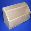 """Mindent bele tartó (nagy/1 db), Fa, Famegmunkálás, Egyéb fa,  """"Mindent bele"""" fa tároló - nagy - 2 fakkos    Mérete: 22x6,5x18 cm (elöl 11 cm)Anyaga: natúr fa,..., Alkotók boltja"""