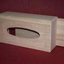 Papírzsebkendő tartó (közepes/1 db) - fekvő, Fa, Famegmunkálás, Egyéb fa,  Papírzsebkendő tartó - közepes - fekvő    Mérete: 24x13x9 cmAnyaga: natúr fa, nem pácolt, nem fe..., Alkotók boltja