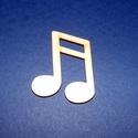 Fa alap (215/A minta/1 db) - kicsi dupla hangjegy, Fa, Famegmunkálás, Egyéb fa,  Fa alap (215/A minta) - kicsi dupla hangjegy    Mérete: 3x2,5 cmAnyaga: natúr rétegelt lemezAnya..., Alkotók boltja