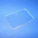 Akril medál alap-10 (46x30 mm/1 db) - téglalap - fúrt - fekvő, Díszíthető tárgyak, Műanyag,  Akril medál alap-10 - téglalap - fúrt - fekvőMérete: 46x30x2 mm  Az anyag víztiszta (mindkét..., Alkotók boltja
