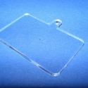Akril medál alap-12 (40x37 mm/1 db) - téglalap - akasztós - fekvő, Díszíthető tárgyak, Műanyag,  Akril medál alap-12 - téglalap - akasztós - fekvőMérete: 40x37x2 mm  Az anyag víztiszta (mind..., Alkotók boltja