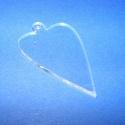 Akril medál alap-19 (50x30 mm/1 db) - szív - akasztós - íves, Díszíthető tárgyak, Műanyag, Mindenmás,  Akril medál alap-19 - szív - akasztós - íves  Mérete: 50x30x2 mm  Az anyag víztiszta (mindkét olda..., Alkotók boltja