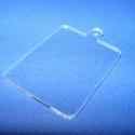 Akril medál alap-7 (47x30 mm/1 db) - téglalap - akasztós - álló, Díszíthető tárgyak, Műanyag,  Akril medál alap-7 - téglalap - akasztós - állóMérete: 47x30x2 mm  Az anyag víztiszta (mindk..., Alkotók boltja