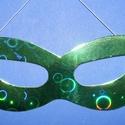 Hologramos papír szemálarc (19x6 cm/1 db) - zöld, Díszíthető tárgyak, Papírmasé, Mindenmás,  Hologramos papír szemálarc - zöld - gumival  Mérete: 19x6 cm Az ár egy darab termékre vonatkozik. , Alkotók boltja