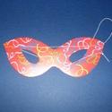 Mintás papírszemüveg (19,5x7,8 cm/1 db) - hegyes, piros, Díszíthető tárgyak, Papírmasé, Mindenmás,  Mintás papírszemüveg - hegyes - piros - gumival  Mérete: 19,5x7,8 cm Az ár egy darab termékre vona..., Alkotók boltja