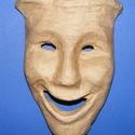 Papír álarc (20x13 cm/1 db) - vidám arc, Díszíthető tárgyak, Papírmasé,  Papír álarc - vidám arc  Mérete: 20x13 cm  Az ár egy darab termékre vonatkozik.  , Alkotók boltja