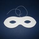 Papírszemüveg (16x5,7 cm/1 db) - natúr, Díszíthető tárgyak, Papírmasé,  Papírszemüveg - natúr - gumival  Mérete: 16x5,7 cm Az ár egy darab termékre vonatkozik. , Alkotók boltja