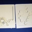 Hungarocell festhető egységcsomag (12. minta/1 db) - szivecskés keret + virág, Díszíthető tárgyak, Hungarocell,    Hungarocell festhető egységcsomag (12. minta) - szivecskés keret + virág    A csomagban 4 dar..., Alkotók boltja