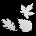 Hungarocell festhető egységcsomag (14. minta/1 db) - levelek, Díszíthető tárgyak, Hungarocell,    Hungarocell festhető egységcsomag (14. minta) - levelek    A csomagban 3 darab sárga hungaroce..., Alkotók boltja