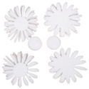 Hungarocell festhető egységcsomag (15. minta/1 db) - margaréták, Díszíthető tárgyak, Hungarocell,    Hungarocell festhető egységcsomag (15. minta) - margaréták    A csomagban 8 darab fehér hung..., Alkotók boltja