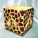 Hungarocell festhető egységcsomag (19. minta/1 db) - zsiráfos mécsestartó, Díszíthető tárgyak, Hungarocell,    Hungarocell festhető egységcsomag (19. minta) - zsiráfos mécsestartó    A csomagban 4 sárga..., Alkotók boltja