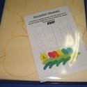 Hungarocell festhető egységcsomag (4. minta/1 db) - kukac, Díszíthető tárgyak, Hungarocell,    Hungarocell festhető egységcsomag (4. minta) - kukac    A csomagban 2 darab sárga hungarocell ..., Alkotók boltja
