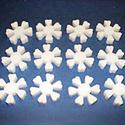 Hungarocell virág (1. minta/csomag) - szivecskés szirmú virág, Díszíthető tárgyak, Hungarocell, Mindenmás,  Hungarocell virág (1. minta) - szivecskés szirmú virág  Mérete: ? 4,2 cmVastagsága: 9 mm A csomag ..., Alkotók boltja
