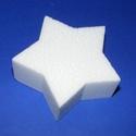 Hungarocell mécsestartó (1 db) - csillag alakú, Díszíthető tárgyak, Hungarocell,  Hungarocell mécsestartó - csillag alakú    Mérete: 8x3,5 cm    Az ár egy darab mécsestart..., Alkotók boltja