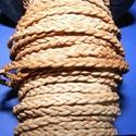 Fonott bőrszíj - 4x2 mm (3. minta - LAPOS/0,5 m) - világosbarna, Vegyes alapanyag, Egyéb alapanyag, Bőrművesség,  Fonott bőrszíj (3. minta) - lapos - világosbarnaValódi bőr alapanyagból készült fonott, lapos fona..., Alkotók boltja