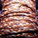 Fonott bőrszíj - 5x2 mm (2. minta - LAPOS/0,5 m) - vegyes színben, Vegyes alapanyag, Egyéb alapanyag, Bőrművesség,  Fonott bőrszíj (2. minta) - lapos - vegyes színbenValódi bőr alapanyagból készült fonott, la..., Alkotók boltja