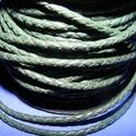 Fonott bőrszíj - 2,5 mm (10. minta/0,5 m) - zöld, Vegyes alapanyag, Egyéb alapanyag, Bőrművesség,  Fonott bőrszíj (10. minta) - zöldValódi bőr alapanyagból készült fonott, hengeres szíj.Átmérője: 2..., Alkotók boltja