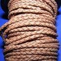 Fonott bőrszíj - 2,5 mm (12. minta/0,5 m) - világosbarna, Vegyes alapanyag, Egyéb alapanyag, Bőrművesség,  Fonott bőrszíj (12. minta) - világosbarnaValódi bőr alapanyagból készült fonott, hengeres szíj.Átm..., Alkotók boltja