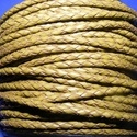 Fonott bőrszíj - 2,5 mm (13. minta/0,5 m) - oliva, Vegyes alapanyag, Egyéb alapanyag, Bőrművesség,  Fonott bőrszíj (13. minta) - olivaValódi bőr alapanyagból készült fonott, hengeres szíj.Átmérője: ..., Alkotók boltja