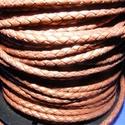 Fonott bőrszíj - 2,5 mm (4. minta/0,5 m) - bronz, Vegyes alapanyag, Egyéb alapanyag, Bőrművesség,  Fonott bőrszíj (4. minta) - bronzValódi bőr alapanyagból készült fonott, hengeres szíj.Átmérője: 2..., Alkotók boltja